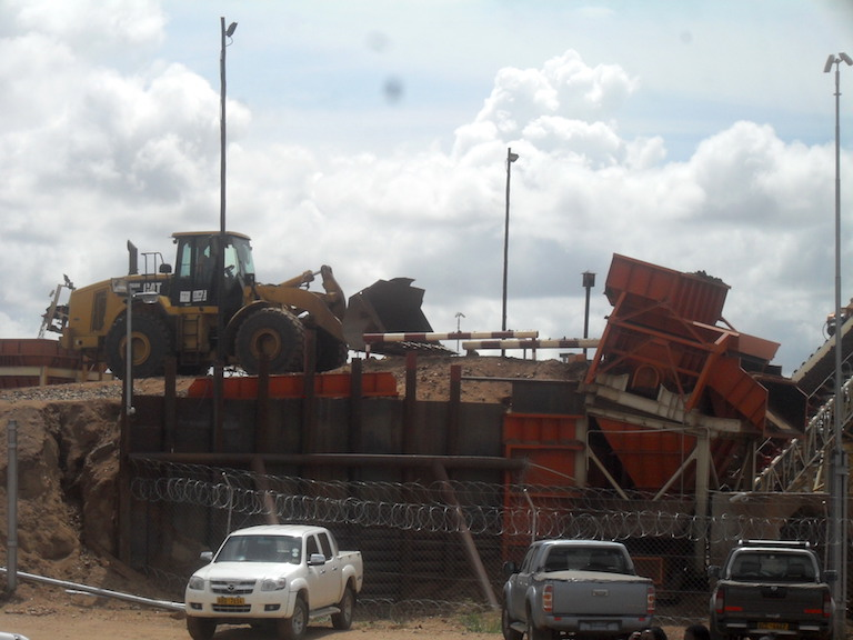 Mining equipment at the Marange diamond fields. Photo by Andrew Mambondiyani.