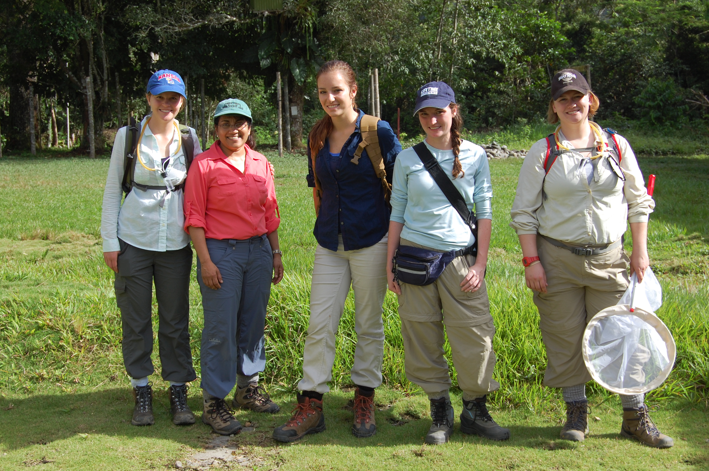 Chaboo with University of Kansas students ready for field work, ACA's Villa Carmen Biological Station. Photo by Caroline Chaboo.