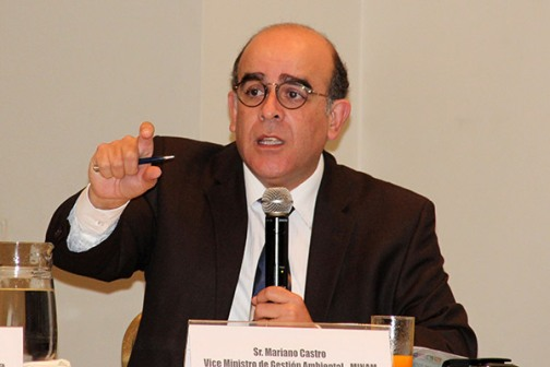 Mariano Castro, vice minister of Environmental Management. Photo: Andina.