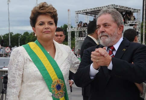 Presidents Lula and Rousseff, members of the ruling Workers' Party from 2003 to the present. Photo by Fabio Rodrigues Pozzebom/ABr