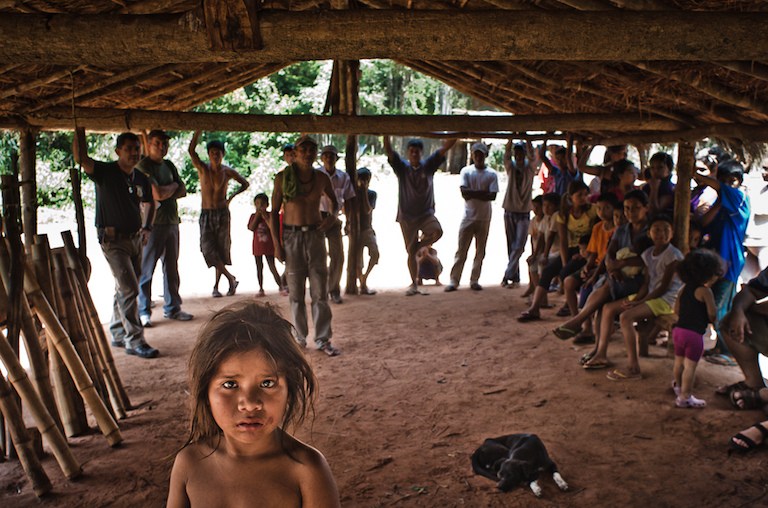 Indigenous Guarani-Kaiowa communities in the state of Mato Grosso do Sul in southwestern Brazil face evictions, attacks, and killings. Photo by Percurso da Cultura.
