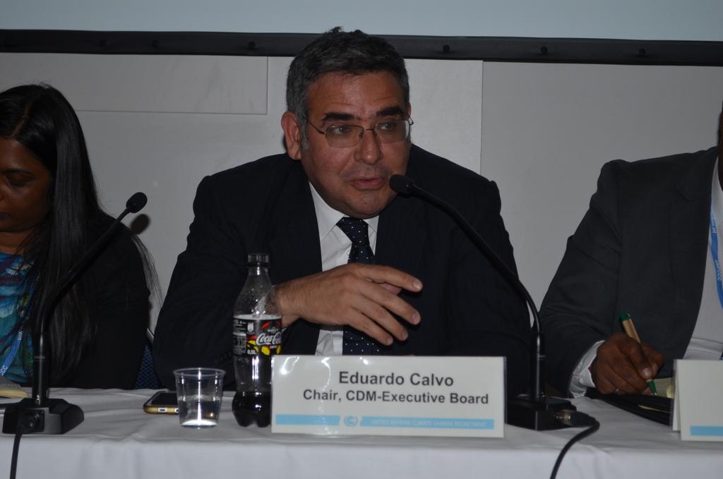 Eduardo Calvo of Peru, the CDM executive director for 2016. Photo by Justin Catanoso