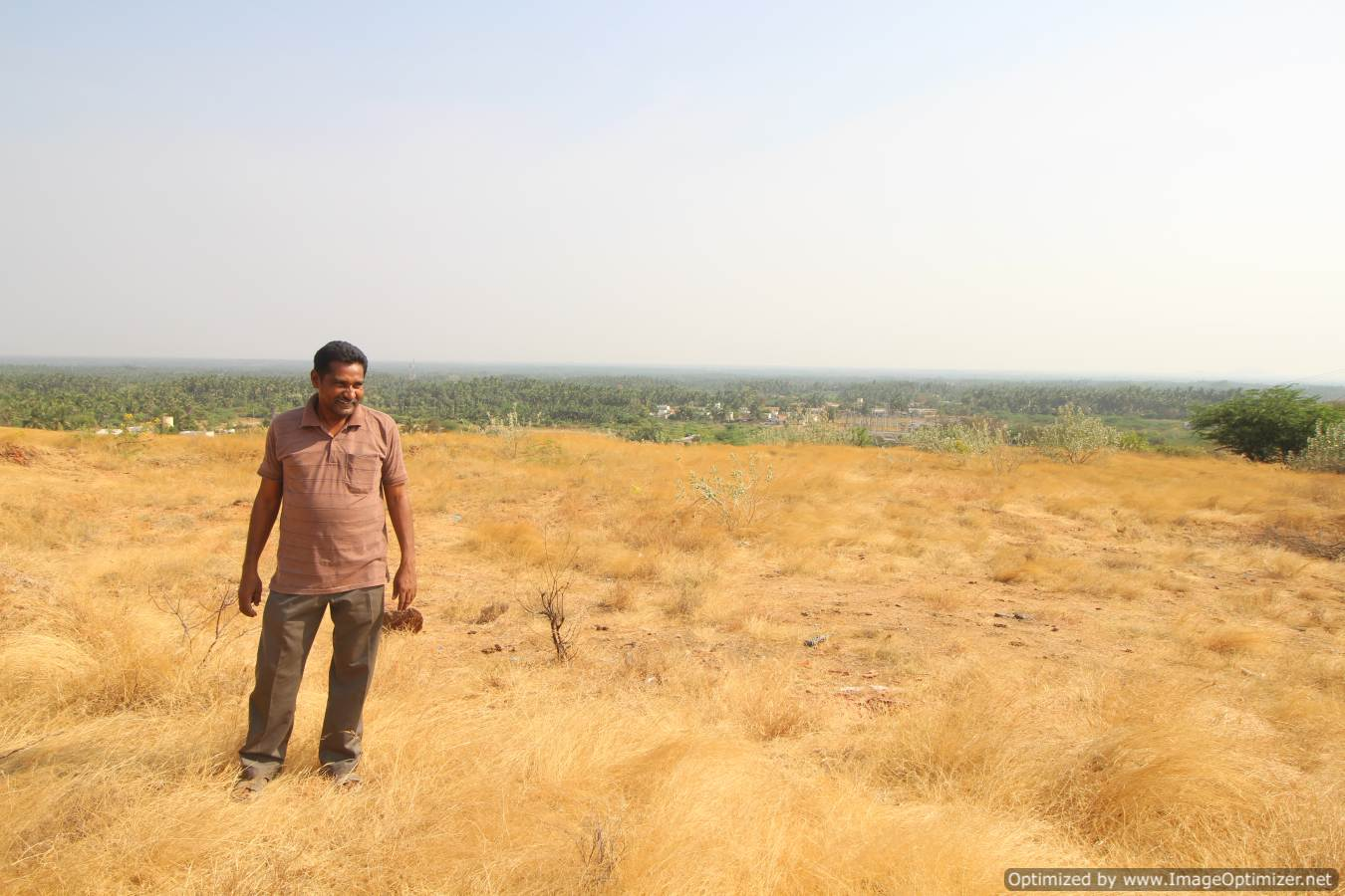 The environmental activist S. Mugilan near his home in Chennimalai, Tamil Nadu. Photo by Sibi Arasu.