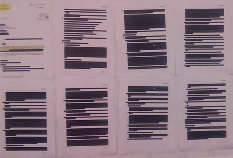 An extract of a redacted TTIP document that was released to the European Parliament. Image by Dimi z made available under the Creative Commons CC0 1.0 Universal Public Domain Dedication
