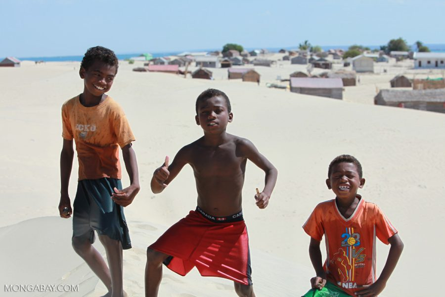 Vezo kids in Ankorohoke, a temporary settlement in southern Madagascar. Photo by Rhett A. Butler