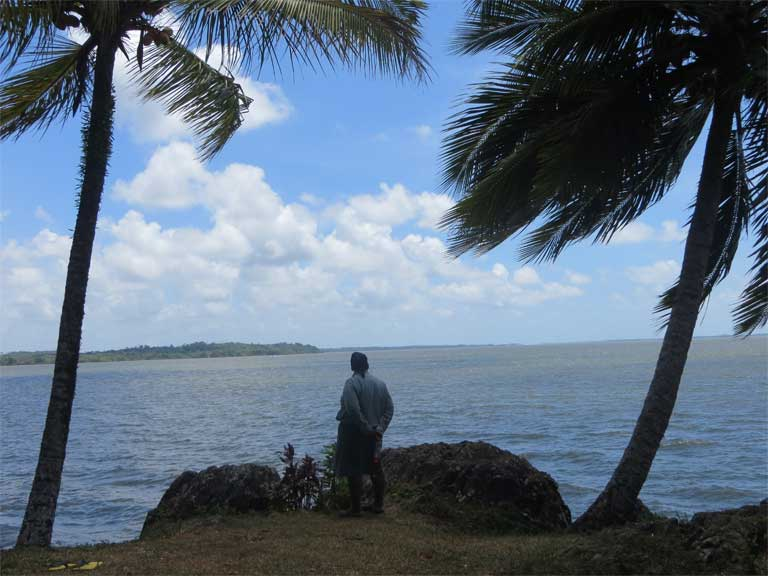 Rama Cay is an island in the Bluefields Lagoon on the eastern coast of Nicaragua. It sits in the path of the proposed canal. Photo courtesy of CALPI, the Centro de Asistencia Legal a Pueblos Indígenas