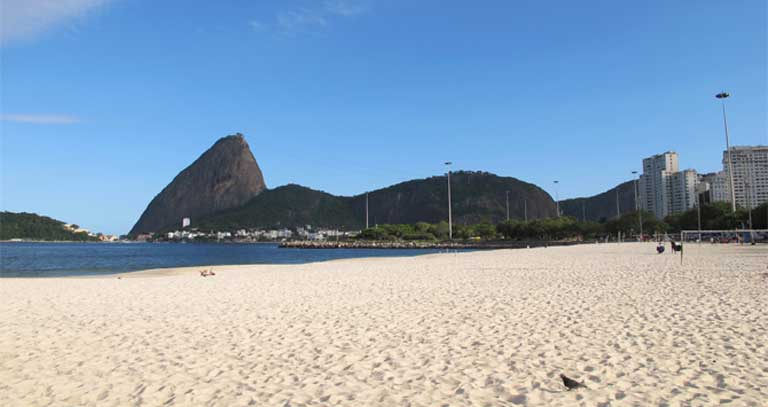 Superbugs have been found at five of Rio's beaches, including Botafogo, Leblon, Ipanema, Copacabana, and Flamengo, as seen here. Photo by Haakon S. Krohn licensed under the Creative Commons Attribution-Share Alike 3.0 Unported, 2.5 Generic, 2.0 Generic and 1.0 Generic license