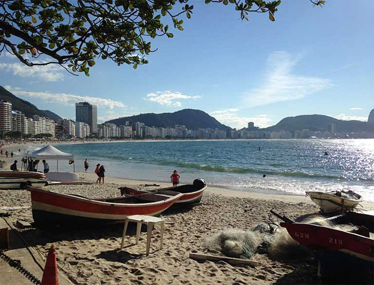 Waters at Copacabana Beach, site for the Olympic marathon swimming and swimming triathlon events was found to have dangerously high levels of viruses, super bacteria and fecal coliforms by researchers. Rio Olympics authorities have been largely unresponsive to the potential risks. Photo by Andre Indio licensed under the Creative Commons Attribution-Share Alike 3.0 Unported license