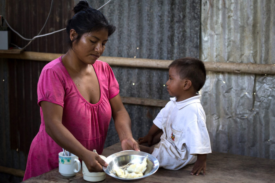Levita prepares food for her two-year-old son in her kitchen in Temashnum. Photo by Brett Monroe Garner.