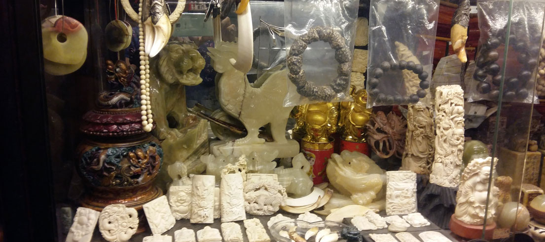 smuggled raw ivory is quickly, and illegally, processed into large quantities of bangles, beads and other jewelry pieces that can be transported easily. Photo courtesy of Save The Elephants.