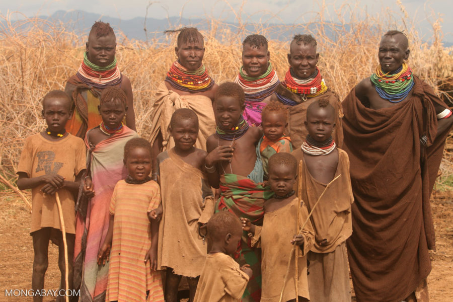 The Turkana people in northern Kenya.