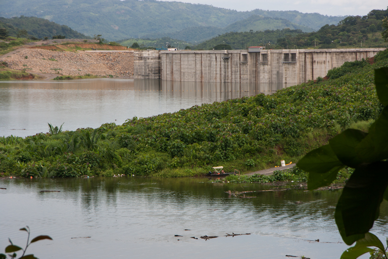 The nearly complete Barro Blanco dam on the Tabasara River in western Panama. Photo by Camilo Mejia Giraldo