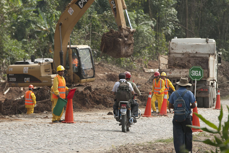 Construction on a section of the TIPNIS Highway, also known as the Villa Tunari San Ignacio de Moxos highway. Photo by Manuel Seoane under a Creative Commons CC BY-NC-ND 2.0 license