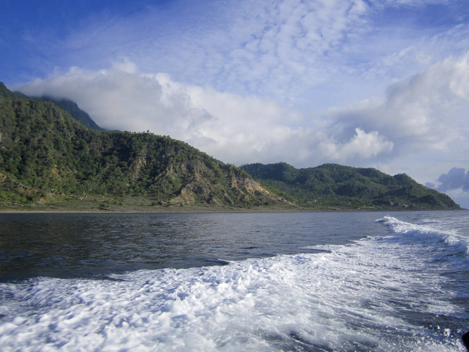 Leaving Atauro Island on speedboat. Photo copyright: Conservation International/Photo by Tracy Farrell.