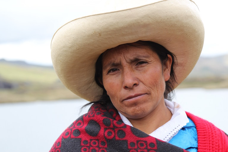 Maxima Acuña. Photo courtesy of Goldman Environmental Prize.