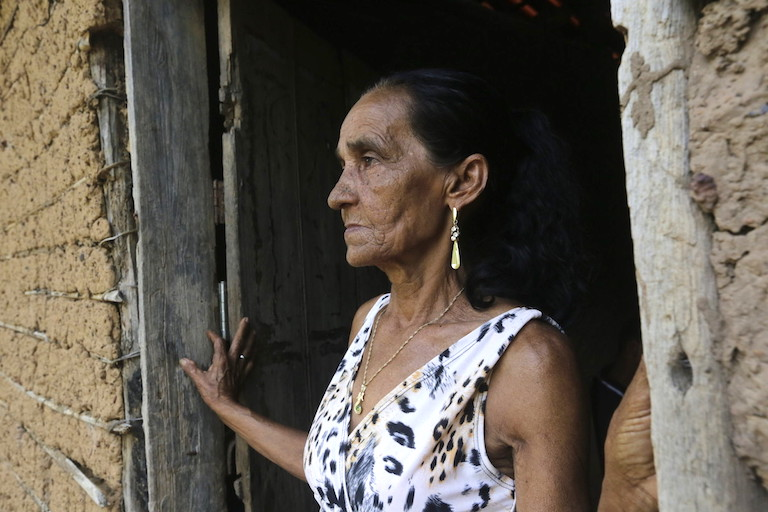 Marina Alves de Araujo, widow of Raimundo Chagas, who was killed in front of their 12-year-old son in 2010 in Vergel, a community in the Amazon under threat from illegal loggers. Photo by Lunae Parracho/Global Witness.