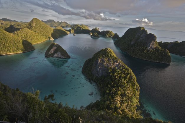 Raja Ampat, home to some of Indonesia's best diving sites. Photo by Jonathan Chase/Wikimedia Commons