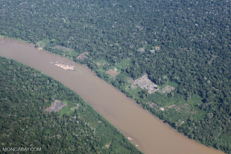 An aerial view of deforestation in the Peruvian Amazon. Photo by Rhett A. Butler