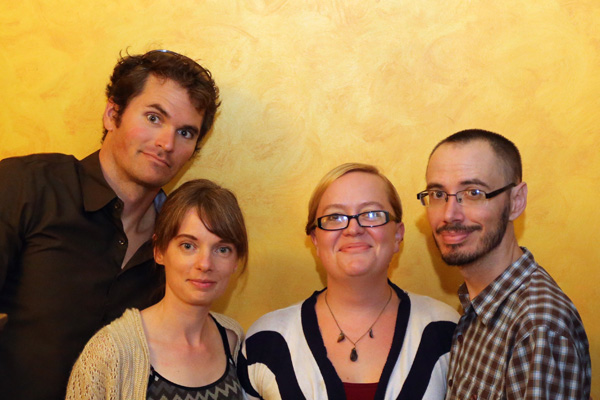 Mongabay.com's U.S. team (full-time staff only -- apologies to our contributors, interns, and translation coordinator Brittany Stewart): Rhett Butler, Morgan Erikson-Davis, Tiffany Roufs, and Jeremy Hance.