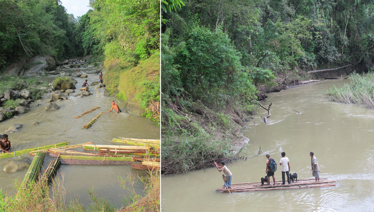 Organized group of illegal loggers transporting trees through waterways in Sangu Reserve Forest. Photo Credit: Creative Conservation Alliance. Most forested areas in Chittagong Hill Tracts are remote and difficult to access especially in the rainy season. Photo Credit: Creative Conservation Alliance