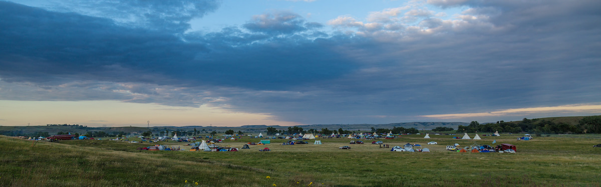 The Camp of the Sacred Stones near Cannon Ball, North Dakota, where opponents of the Dakota Access Pipeline have been maintaining a protest camp for months. Photo by Tony Webster via Flickr (CC BY-SA 2.0)