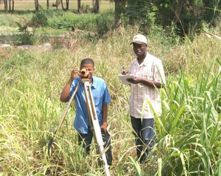 Land surveyors in Liberia. Photo courtesy JPN Liberia