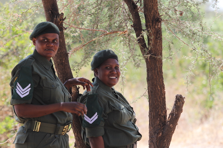 Tanzanian rangers. Photo by Krissie Clark for PAMS Foundation Tanzania