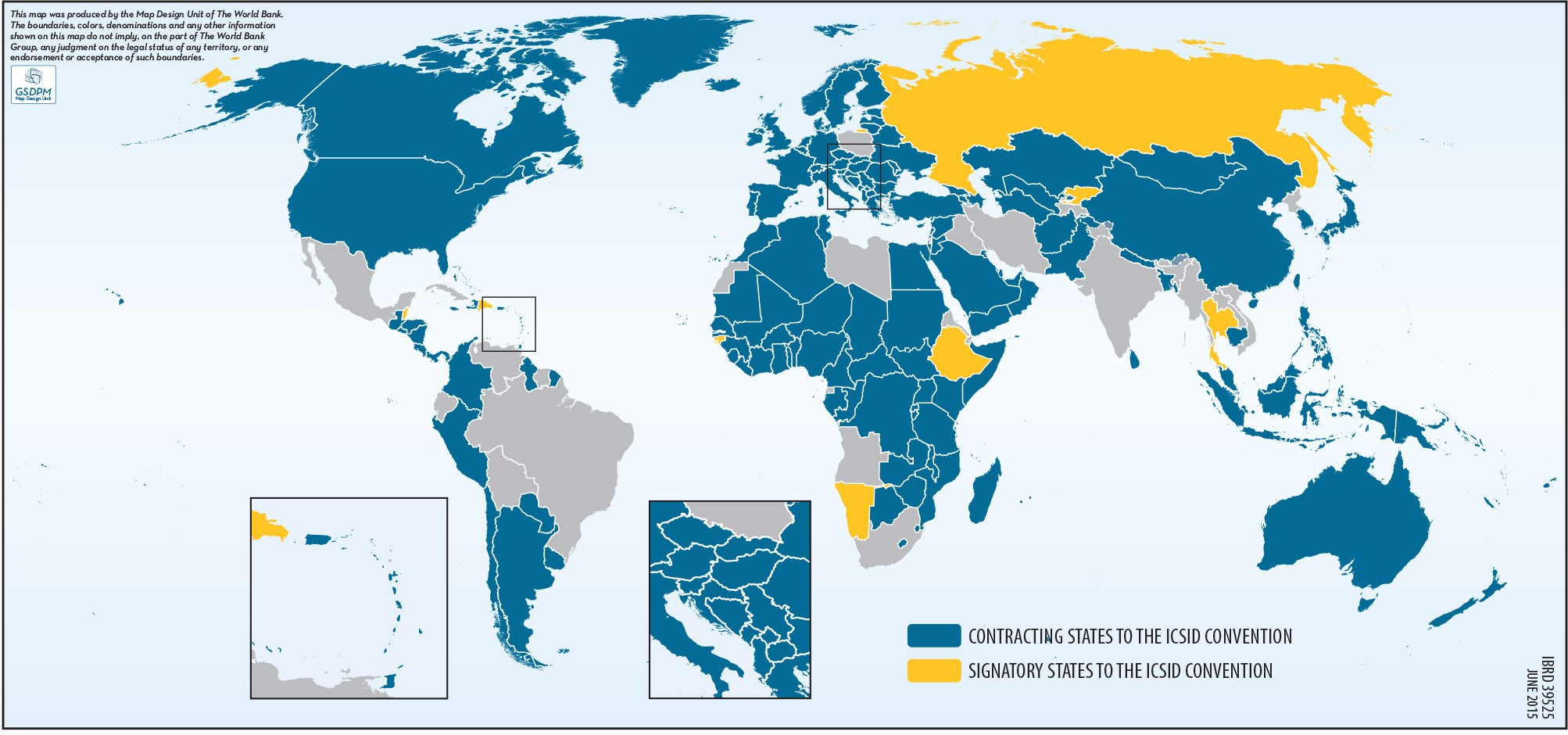 ICSID Contracting States Map