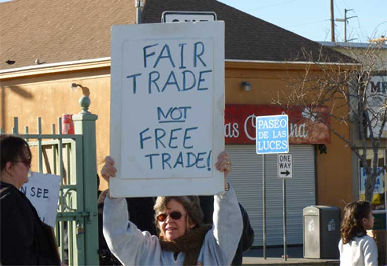 NAFTA protests rage on worldwide, reignited by recent Chapter 11 cases and the threat of new and looming trade treaties such as TTP, TTIP and CETA. Photo by Billie Greenwood licensed under the Creative Commons Attribution-Share Alike 2.0 generic license