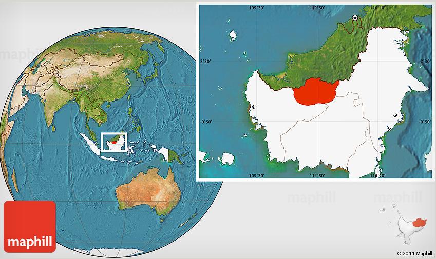 Kapuas Hulu maphill map 3