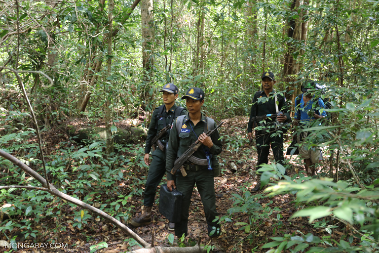 Rangers on patrol in the Southern Cardamom Mountains. Photo by Rhett A. Butler