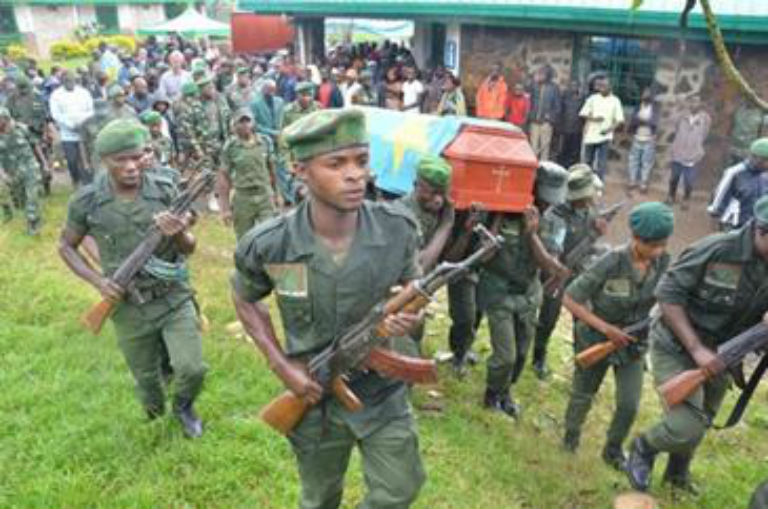 The funeral of murdered park ranger Munganga Nzonga Jacques. Photo courtesy ICCN