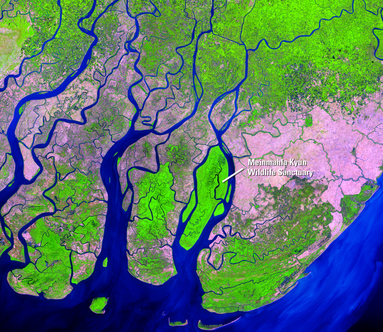 Irrawady Delta in 2014. Source: USGS