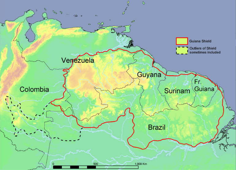 Where Is Guyana Located On The World Map.The Guiana Shield The Greenhouse Of The World