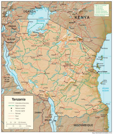 Map of Tanzania. Source: CIA Library