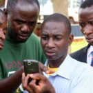 Villagers in Tanzania use mobile monitoring to keep an eye on the forests. Photo courtesy USAID Africa