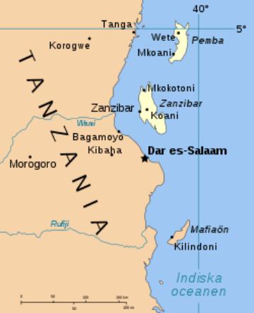 Zanzibar Island, just off the coast of Tanzania. Photo Courtesy Wikimedia Commons