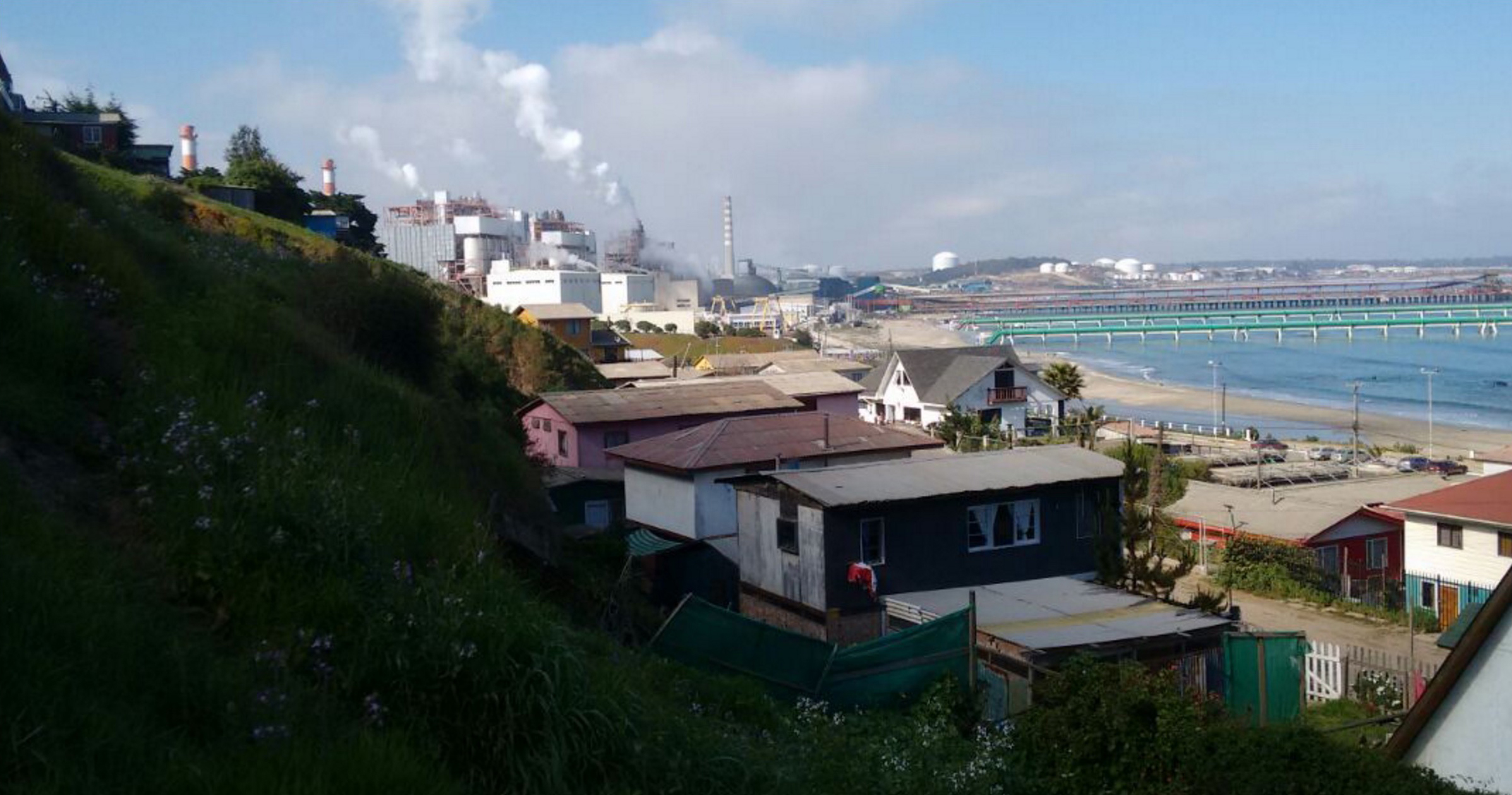 The city of Ventanas is surrounded by industry, and the pollution is in the air, land and water. Photo: Courtesy Carlos Vega.