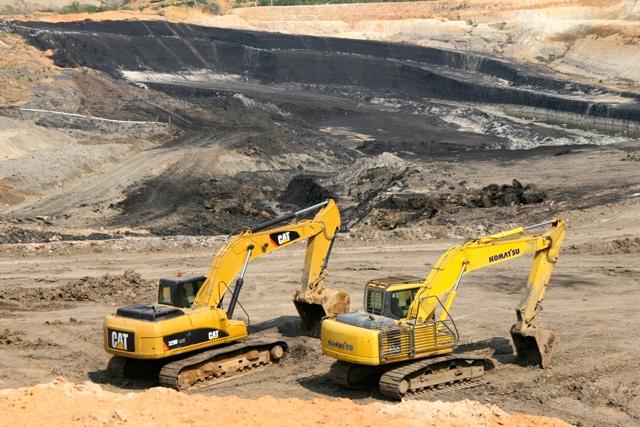 Coal mine in Sarolangun operated by PT Jambi Prima Coal. Photo by Feri Irawan.