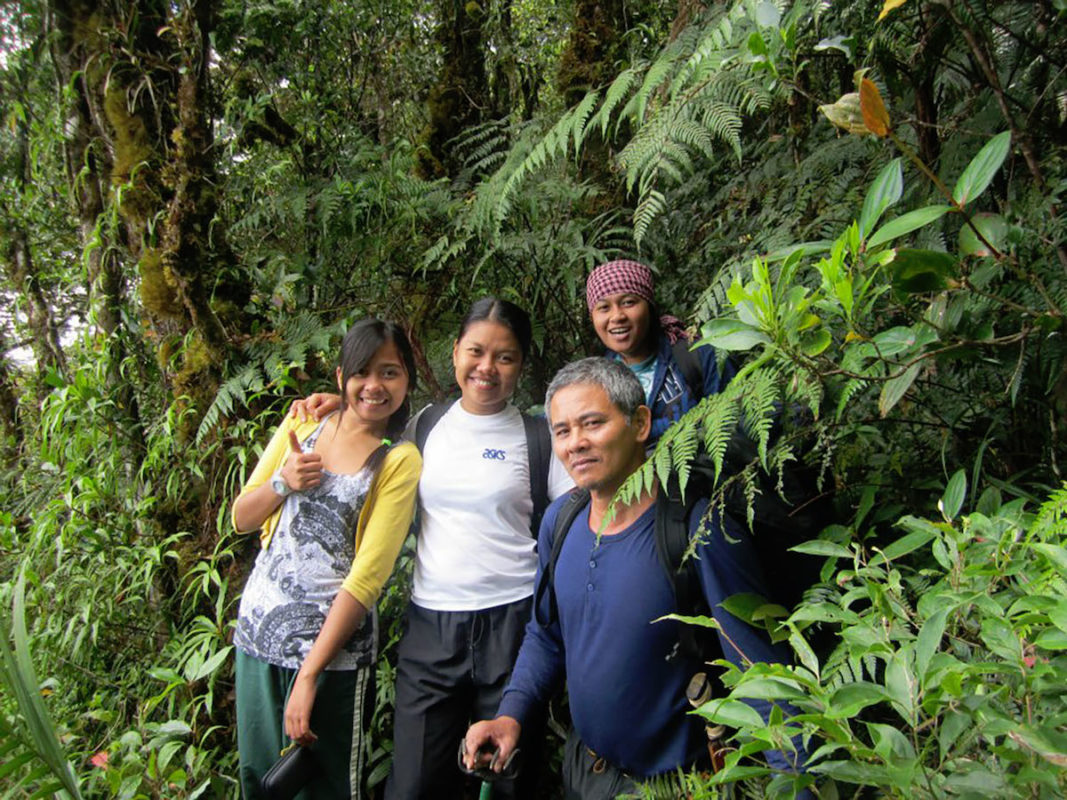 Marites Sanguila, second from left, on-site in Mindanao with students and research assistants. Photo courtesy of Marites Sanguila.