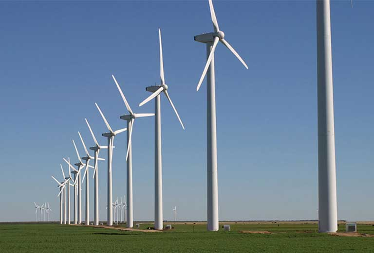 "The Brazos Wind Farm Fluvanna, Texas. Steve Sawyer, secretary general of the Global Wind Energy Council in Belgium, says he ""is horrified, horrified, horrified"" at Trump's election, but adds with a wry smile: ""97 percent of all wind power installations in the US are in Republican Congressional districts,"" such as Texas, Oklahoma, Nebraska, Kansas, North and South Dakota and Iowa. Photo by Leaflet licensed under the Creative Commons Attribution-Share Alike 3.0 Unported license"