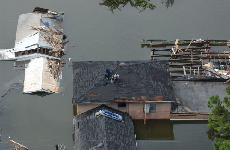 New Orleans, LA--Aerial views of damage caused from Hurricane Katrina the day after the hurricane hit August 30, 2005. Photo by Jocelyn Augustino/FEMA