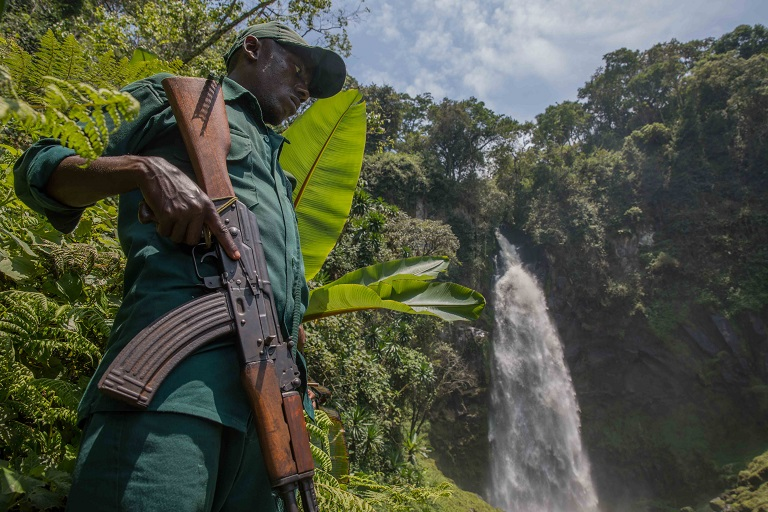 Park rangers are paid a meager salary, though typical of regional wages, for their dangerous work. Photo by Thomas Nicolon