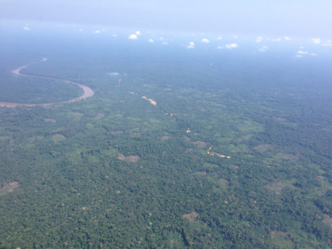 The Congo Basin, pictured here in the Democratic Republic of Congo, holds a variety of different ecosystems. Photo by John C. Cannon