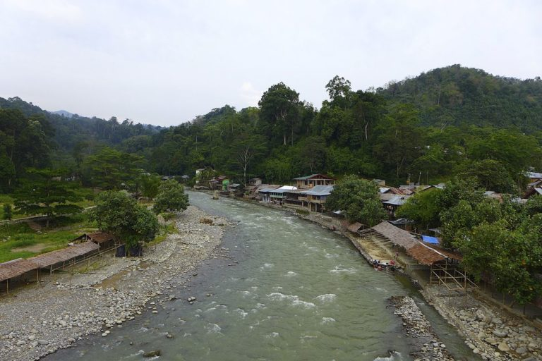 The Bohorok River in Bukit Lawang. Photo by Madeleine Holland/Wikimedia Commons