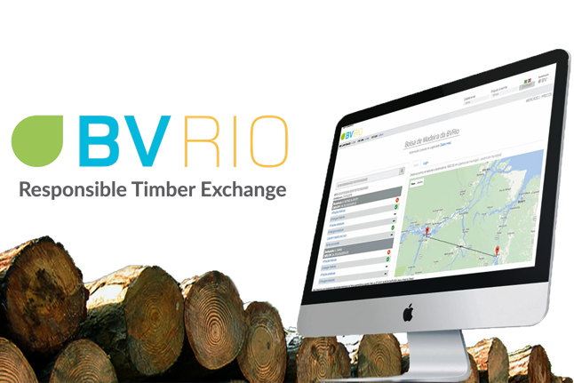 The Responsible Timber Exchange allows buyers to verify the legality and sustainability of the wood they purchase. Photo courtesy of BVRio