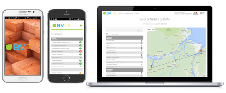 The platform augments a set of mobile and online software tools by BVRio to ensure a legal supply chain. Photo courtesy of BVRio
