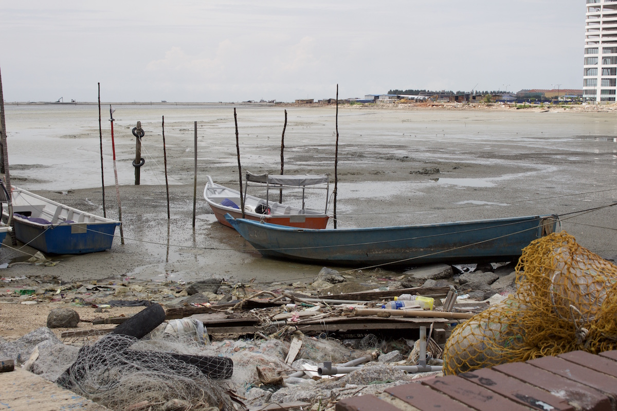 Fishing boats at the Portuguese Settlement. Photo by Kate Mayberry.