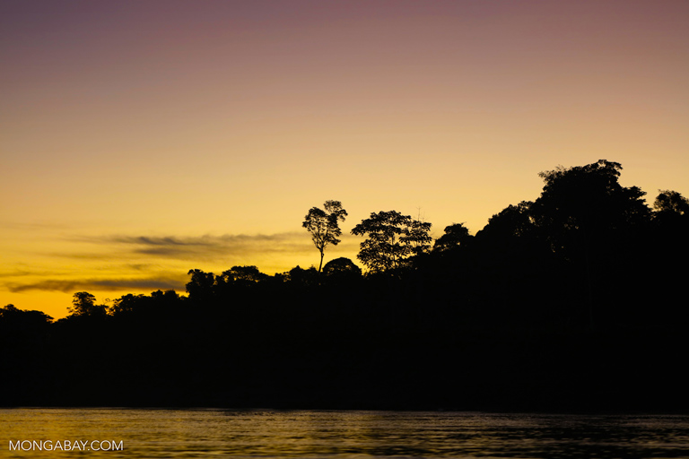 Sunset in the Peruvian Amazon. Photo by Rhett A. Butler