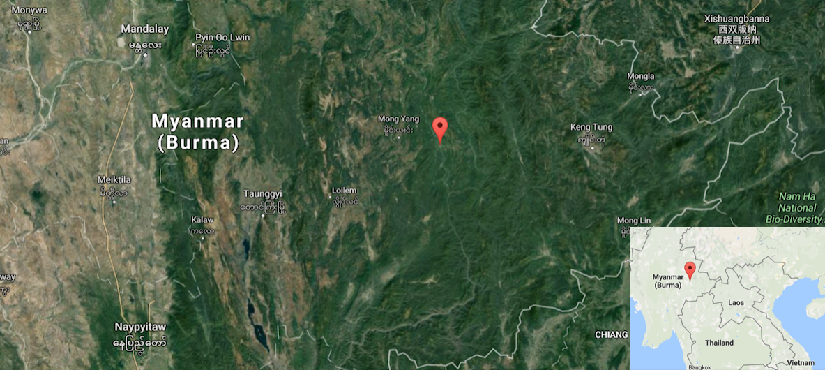 Kunhing township in Myanmar's Shan State. Maps courtesy of Google Earth and Google Maps.